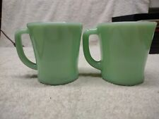 Vintage Jadeite Fire King Coffee Cups