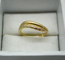 LOVELY 18ct Oro e Diamante Set intersecano stile Anello