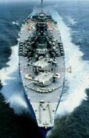 WW2 Picture Photo Japanese Yamato Battleship at Sea 3359