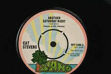 """Vinyl Record 7"""": Cat Stevens - Another Saturday Night/Home in the Sky"""