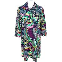 Jude Connally Womens 3/4 Sleeve Dress Multicolor Abstract Geometric Print Small