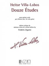 Heitor Villa-Lobos 12 Etudes Sheet Music Solo Guitar MGB NEW 050565484
