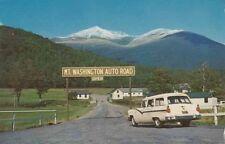 Vintage POSTCARD c1950-60s Start of Mt. Washington Auto Road NEW HAMPSHIRE 12797