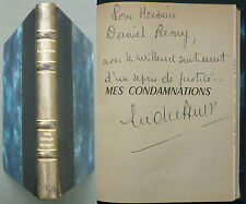 FIGUERAS ANDRÉ - MES CONDAMNATIONS - 1ère ed. 1966 avec envoi de l'auteur WW2