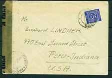Germany WW2 Military Cencored Letter 1946