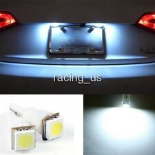 2pcs White LED car light 12V 74/T5 SMD 1-LED light Lamp For License Plate Light