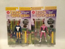 Dc directo Legión de Super Héroes Lightning Lad y Cosmic Boy figuras MIB