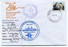 1985 Polarstern Arktis Longyear Hamburg Helicopter Polar Antarctic Cover SIGNED