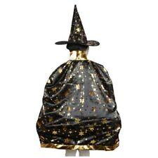 Halloween Kostueme Hexe Zauberer Umhang Mit Hut Fuer Kinder Jungen Maedchen R5O1