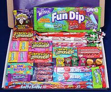 50 Item American Candy Gift Box - Christmas Present - Hamper - Wonka Laffy Taffy
