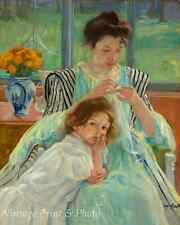 Young Mother Sewing by Mary Cassatt Art Woman Little Girl Child 8x10 Print 0643
