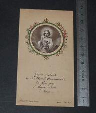 CHROMO 1931 IMAGE PIEUSE CATHOLICISME HOLY CARD RELIGION JESUS CHRIST