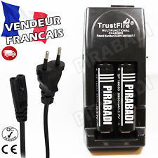 2 PILES ACCUS RECHARGEABLE 18650 3.7V 8800mAh + CHARGEUR TR-001 TRUSTFIRE RAPIDE
