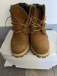 TIMBERLAND Brown Leather Boots Size UK 7.5 W