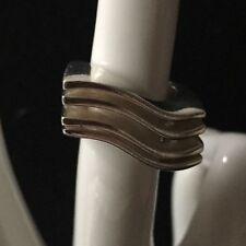 Ring extravagante Form eckig Wellenform Silberring 925er Silber 48 (15,3 mm Ø)