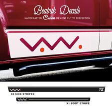 VW T4 T5 Side Stripes Stickers Decals Graphic Volkswagen Transporter Vinyl