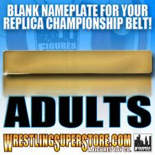Blank Nameplate for WWE Adult Size Replica Championship Belts