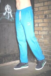 PUMA BOTTOMS SWEATPANTS BLUE SIZE XL