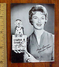 1950's THE ROMPER ROOM MISS DIANNE JACK IN BOX CHILDRENS TELEVISION PROMO PHOTO