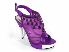 Women Evening Dress Shoes Rhinestones High Heels Platform Wedding Pumps Angie19