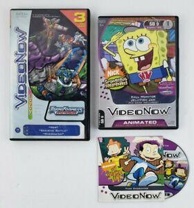 Hasbro Video Now Personal Discs Lot of 3, Spongebob, Transformers, Rugrats: AGU!