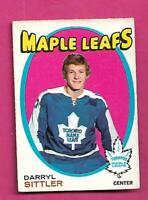 1971-72 OPC # 193 LEAFS DARRYL SITTLER 2ND YEAR VG  CARD (INV# D2888)