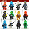 12 Sets Ninjago Jay Cole Ninja with with Weapons  Mini figures Fit Lego Toys