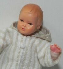 Dollhouse Miniature Baby Doll Beige and White Caco Dollhouse Shoppe 1:12