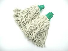 More details for cotton mop heads plastic socket 160g green push fit swift professional