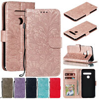 For LG G8 ThinQ Stylo 5 Case Luxury Magnetic Flip Leather Wallet Stand Cover