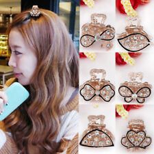 Women Crab Hair Clip Mini Butterfly Clamp Girls Crystal Mini Claw Accessories
