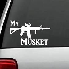 F1024 My Musket Assault AK47 M16 M4 DECAL STICKER Black Powder GUN RIGHTS