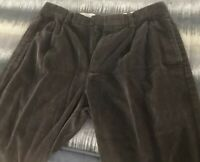 Brooks Brothers Pleated Front Cuffed Cordurouy Pants 35 x 30