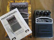 New Rocktron Reaction Distortion II Guitar Pedal + Bonus Tin of Guitar Picks