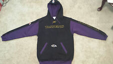 NFL BALTIMORE RAVENS  REEBOK Pull Over Hoodie Sweatshirt MED Black/purple/gold