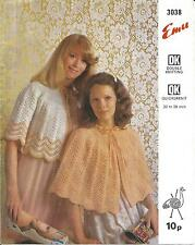 VINTAGE KNITTING PATTERN BEDCAPE AND BEDJACKET