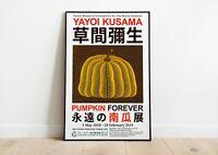 Yayoi Kusama Pumpkin Forever 2018 Exhibition Poster | Art Print | Wall Decor