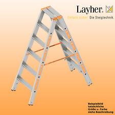 Layher Alu Stufenstehleiter, 2x6 Stuf., L=1,50m, Bockleiter, Topic Typ 1043.006