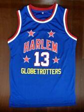 VTG Wilt Chamberlain #13 Harlem Globetrotters Team Men's Basketball Jersey Blue