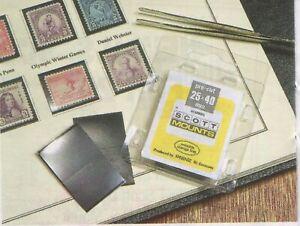Scott/Prinz Pre-Cut Strips 265mm Long Stamp Mounts 265x192 #1078 Black