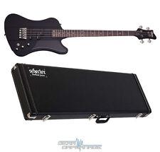 Schecter Sixx Satin Black SBK Electric Bass *NEW* + Hard Shell Case Nikki Six