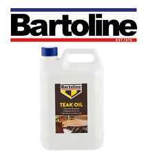 Bartoline Teak Oil 5 Litre Protects Wood gives a Beautiful Natural Sheen Finish