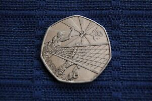 2011 ELIZABETH II 50 PENCE LONDON OLYMPIC SPECIAL SERIES - VOLLEY BALL