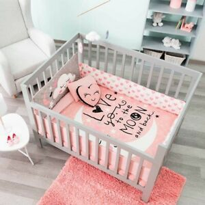 MOON AND STARS BABY GIRL CRADLE KIDS BABY SET 6 PIECES