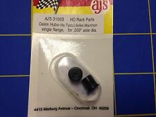 AJ'S 3100B Black Delrin Hubs for Tyco lifelike Marchon Single Flange .059 axle
