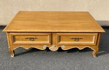 Ethan Allen Country French Coffee Table w/ 4 Drawers Model #26-8200