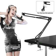 Pop + Microphone Suspension Mic Stand Boom Scissor Arm Stand Clip Wind Filter UK