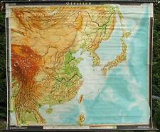 Scheda crocifissi Mappa Muro Cartina a rotelle Asia Asia Orientale Cina schulkarte carta 222x191