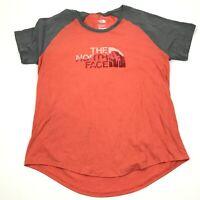 The  North Face Shirt Women's Size Extra Large XL Orange Gray Short Sleeve Tee