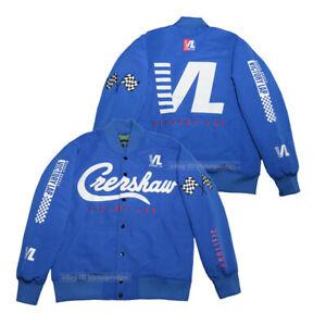 Crenshaw Hussley Victory Lap Cotton Thick Satin Baseball Jacket Hip Hop Rap